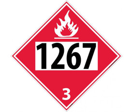 DOT 1267 3 Red Placard Sign
