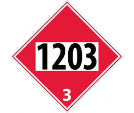 DOT 1203 3 Red Placard Sign