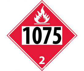 DOT 1075 2 Red Placard Sign