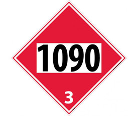 DOT 1090 3 Red Placard Sign