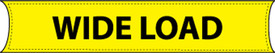 """Wide load 8Ft x 18In Weatherproof Banner - Aris Industrial  """"WIDE LOAD """" banner with yellow background and black text."""