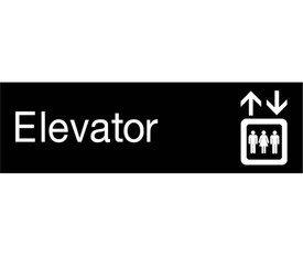 Elevator Engraved 3x10 Graphic Wall Sign