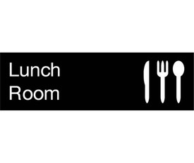 Lunch Room Engraved 3x10 Wall Sign