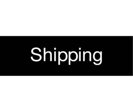 Shipping Engraved 3x10 Sign