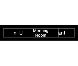 Meeting Room in Use or Vacant Engraved Slide Door Sign