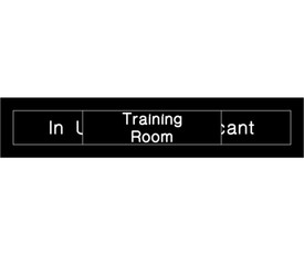 Training Room In Use or Vacant Engraved Slide Door Sign