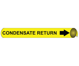 Condensate Return Black On Yellow Pipe Marker Precoiled - Condensate Return Pipe Marker Precoiled, Black text on Yellow