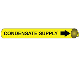 Condensate Supply Pipe Marker Precoiled Black On Yellow