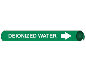 Deionized Water Precoiled White On Green Pipe Marker