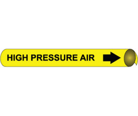 High Pressure Air Pipe marker Black On Yellow