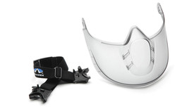 Pyramex Capshield Face Protector - Clear Face Shield and a stretchy band with 2 clips on the end