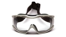 Pyramex Capstone 600 Chemical Splash Protective Goggles - Chemical splash resistant safety goggles with adjustable head strap, front view