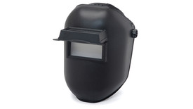Pyramex Black Welding Safety Helmet IR10 - Black welding helmet with full face black shield and rectangle lens for seeing