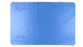 Pyramex Reusable Cooling Towel - Blue reusable cooling towel with Pyramex logos in corners
