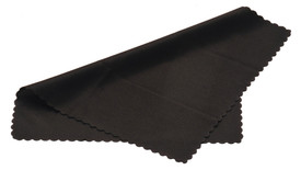 Pyramex Safety Glasses Cleaning Cloth - Microfiber black cleaning cloth for cleaning glasses and spectacles, folded view