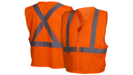 Pyramex RCZ2110 Class 2 Hi-Viz X on Back Safety Vest