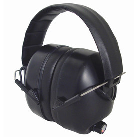 Radians Electronic Amplify Padded EarMuff NRR 26 - Black over head ear muffs with foam padded band and ear covers, features electronic cancellation