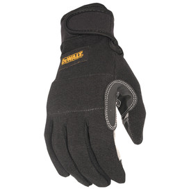DeWalt Foam Padded Knuckles SecureFit Performance Glove - Black padded safety work glove with layered palm and adjustable wrist