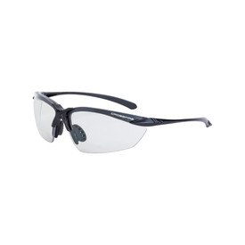 Crossfire Premium Sniper Polarized HD Safety Glasses - CrossFire - Half frame dark gray safety glasses with light gray lenses