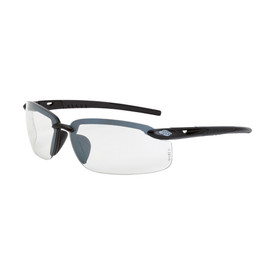 CrossFire Premium ES5 Polarized Safety Glasses - CrossFire - Solid black half frame safety glasses with clear lenses and rubber temples