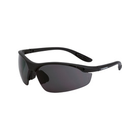CrossFire Talon Vented Rubber Nose Safety Glasses - CrossFire - Solid black half frame safety glasses with dark gray lenses and rubber temples
