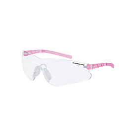 CrossFire Mini Blade Frameless Safety Glasses - CrossFire - Frameless safety glasses with dark gray lenses and light pink temples