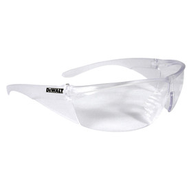 DeWalt Structure Added Temple Coverage Safety Glasses - Clear frameless safety work glasses with peripheral protection and clear temples