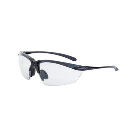 CrossFire Sniper Lightweight Vented Bi-Focal Reader Glasses 1.5 - CrossFire - Solid black half frame safety glasses with clear lenses and rubber nose pads