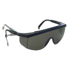 Radians G4 One Piece Lens OTG Safety Glasses - black half frame wrap around safety work glasses with smoke one-piece lens