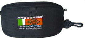 CrossFire Safety Glasses Attachable Case - CrossFire zippered eyewear portable bag with attached clip for transport