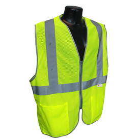 Radians Class 2 Lightweight Mesh Zipper Front Safety Vest