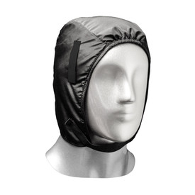 Radians Thermal Winter Hard Hat Liner With Inner Fleece - black leather hard hat liner with inner fleece and chin strap.