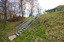 Stairway system built using 3 splice kits