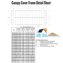 ShoreMaster Traditional Canopy Cover - 13oz Vinyl