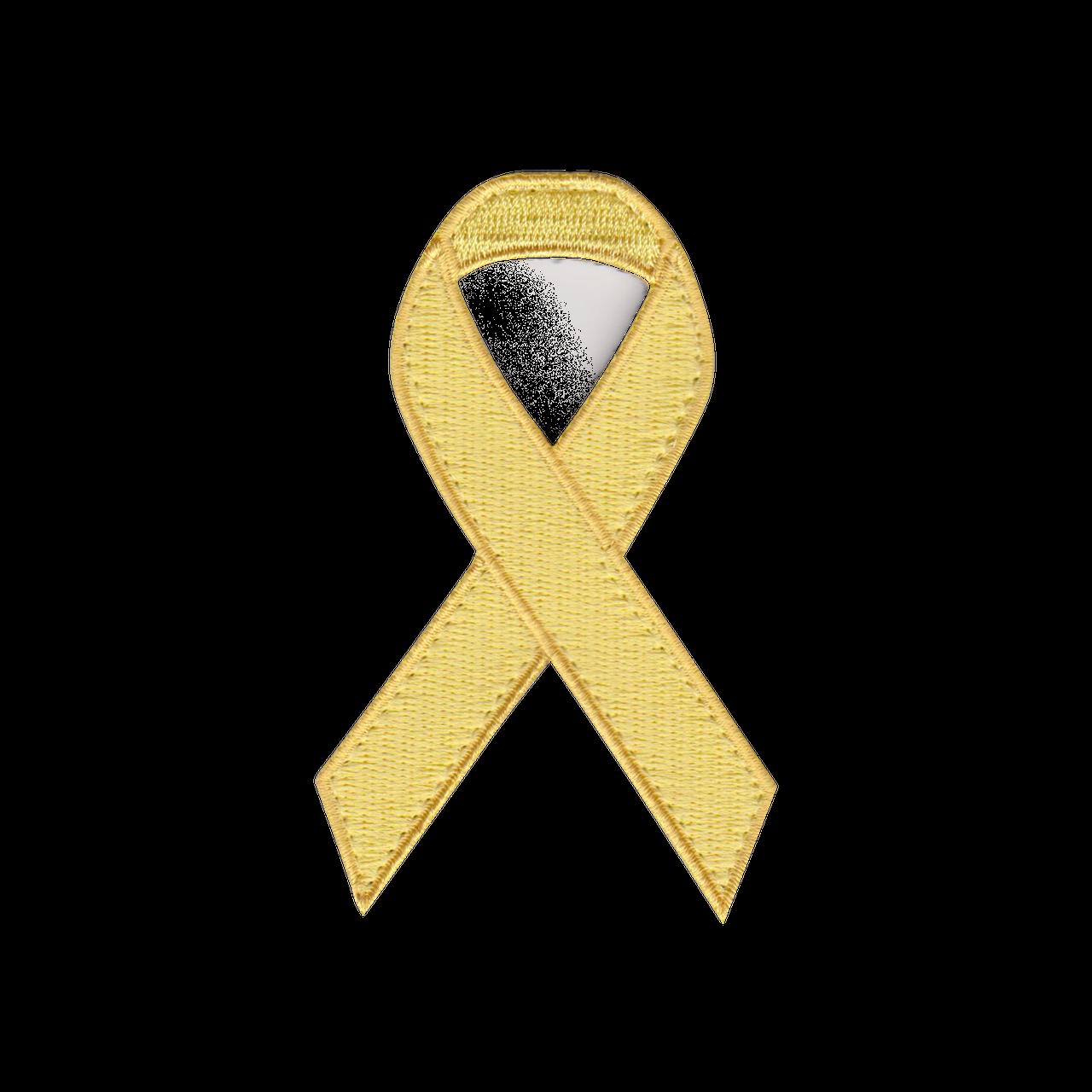 Yellow Awareness Ribbon Patch Marucci Sports