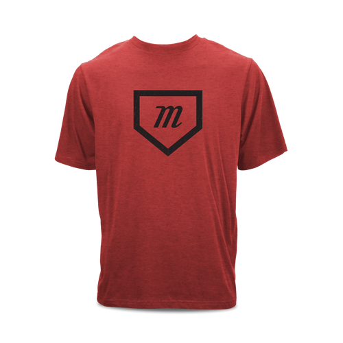 Tri-blend short sleeve graphic t-shirt with a Marucci home plate print