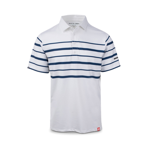Pierce Stripe Performance Polo