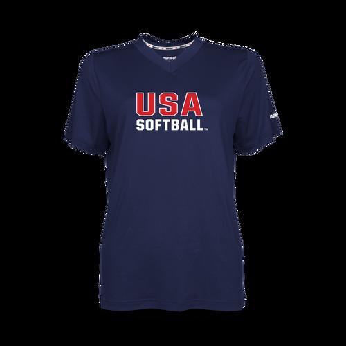 USA Softball Women's V-Neck
