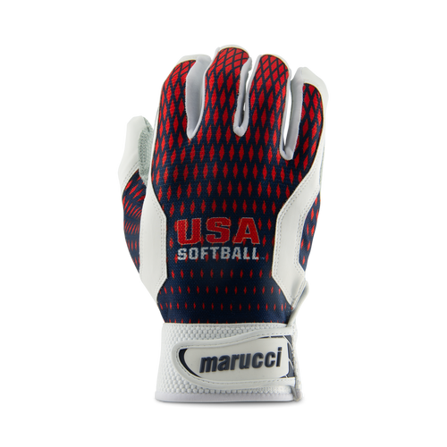USA Softball Two-Tone Batting Gloves