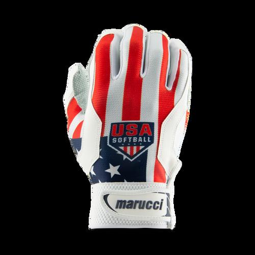 USA Softball Stars and Stripes Batting Gloves