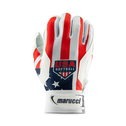 Youth USA Softball Stars and Stripes Batting Gloves