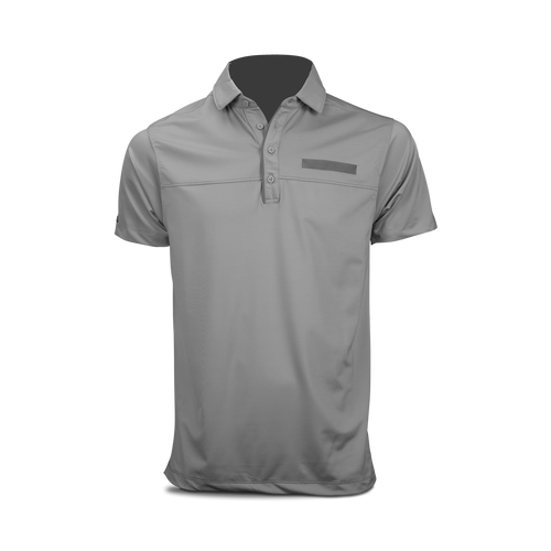 Matte Grey Commander Polo