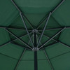 16 Feet Large Market Patio Umbrella with Cross Base(Dark Green)