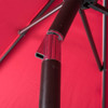 Sundale 9-Feet Polyester Patio Umbrella with Auto Tilt, Crank and 8 Aluminum Ribs, Red