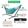 Lazy Daze Hammocks Double Hammock with Space Saving Steel Stand Includes Portable Carrying Case, 450 lb. Capacity (Oasis Stripe)