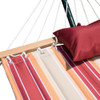 Lazy Daze Hammocks Quilted Fabric Double Size Spreader Bar Heavy Duty Stylish Hammock Swing with Pillow for Two Person, Cherry