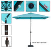 Sundale Outdoor Rectangular Solar Powered 26 LED Lighted Outdoor Patio Umbrella with Crank and Tilt, Aluminum, 9 by 6.5-Feet, Blue