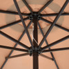 Sundale Outdoor 11 Feet Round Market Patio Umbrella Bronze Aluminum Pole, Push Button Tilt/Crank, UV Protection and Fade Resistant Canopy, Tan