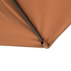 Sundale Outdoor 9.5ft Square Offset Hanging Umbrella Market Patio Umbrella Aluminum Cantilever Pole w/Cover, Crank Lift and Cross Frame, Polyester Canopy, 360°Rotation, for Garden, Deck,Backyard, Tan
