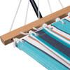 Lazy Daze Hammocks 15 Feet Heavy Duty Steel Hammock Stand, Two Person Sunbrella Fabric Hammock Combo,Token Surfside
